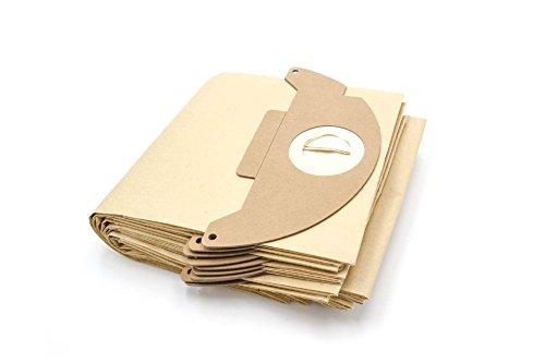 vhbw 10 Staubsaugerbeutel passend für Kärcher 2501, 2501TE, 2601, 2601 plus, 3001, 3001 Plus, A 2120, A 2120 ME, K 3000 plus Staubsauger, Papier