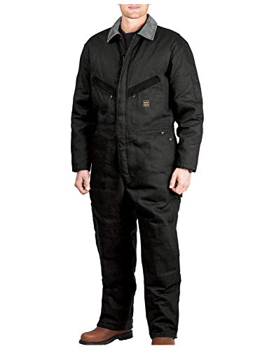 Walls Men's Zero-Zone Duck Insulated Coverall, Midnight Black, Large/Short
