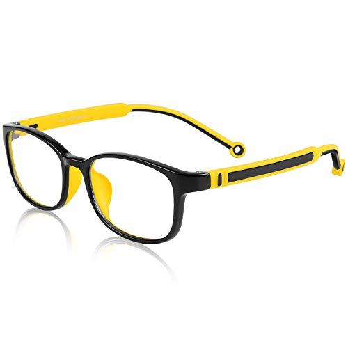 Blue Light Blocking Glasses Kids, UV400 Protection,Computer Gaming TV Glasses for Boys Girls Age 3-15 Anti Glare & Eyestrain