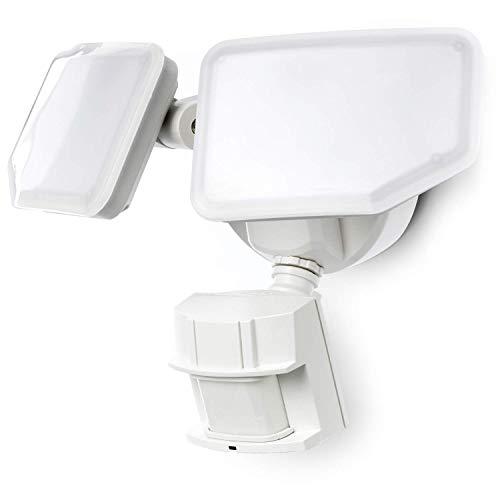 Home Zone Security Motion Sensor Security Light - Outdoor Weatherproof 5000K LED Frosted Lens Flood Lights