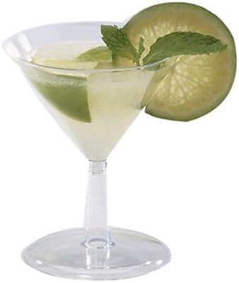 WNA Petites Round Bombing new work Polystyrene Mini Clear 2 wholesale Martini Glass oz.