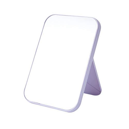 Espejo de maquillaje plegable para mesa cosmética, vinilo cuadrilátero desmontable