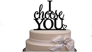 I Choose You Cake Topper Wedding Cake Topper Anniverary Family Bride Groom Kissing Love Couple Party Decoration