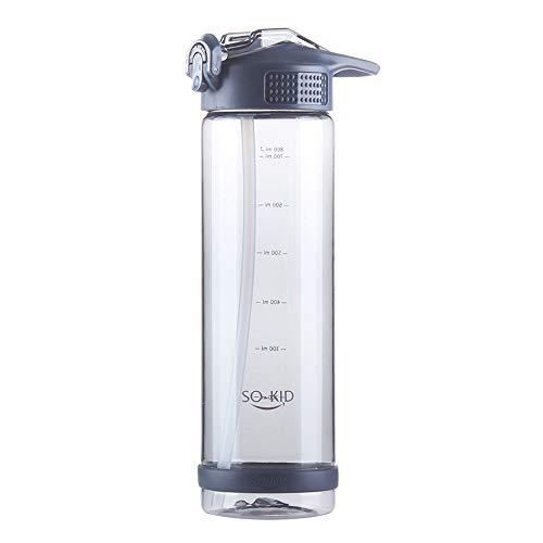 MATT SAGA Botella Agua Deportiva 500ml/700ml/800ml Sin BPA para Correr, Gimnasio, Yoga, Corriendo, Cámping, Ciclismo, Oficina (Azul, 800ml)