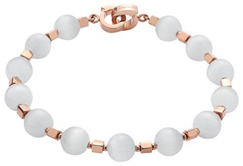 JEWELS BY LEONARDO Damen-Armbänder Macari Darlin's Edelstahl Cateye Glas roségold weiß Clipverschluss 016471