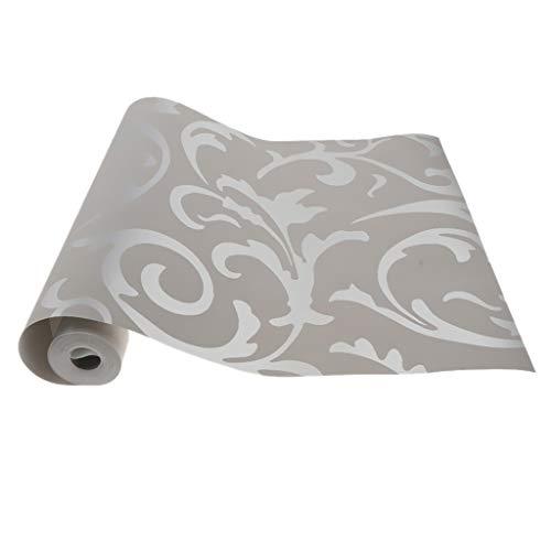3D Vlies Tapete Fototapete Wandtapete Mustertapete Wanddeko Wandtapete Moderne Dekoration - Silber grau