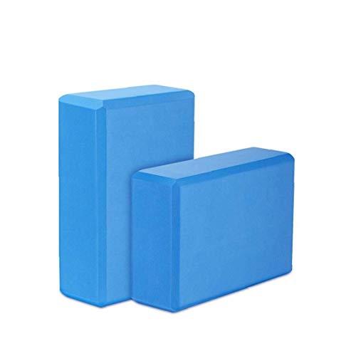 2 PCS Yoga Ejercicio Ladrillos ladrillo Bloque de Espuma EVA Aptitud ecológica Yoga Ligera Ayuda Herramienta de Pilates Fitness Prop Azul a Rich y Vida Conveniente