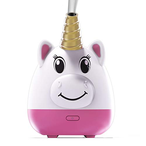 Simply Diffusers Unicorn Kids Cute Aromatherapy Diffuser for Essential Oils - Patented with New Silicone Soft Top Design, USB Powered with an Auto-Shut Off Safety Feature. Great for Any Age.