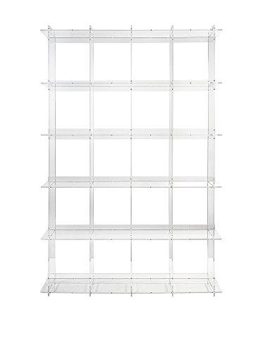 Iplex Design Atmosfera 4 Libreria, Plexiglass/PMMA, 131x30x202 cm