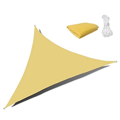 Sunnykud 6'5''x6'5''x6'5'' Sun Shade Sail Waterproof Beige Triangle Canopy Awning Perfect for Outdoor Garden Patio Backyard Activities