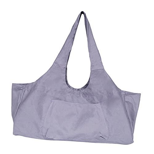 Sharplace Canvas Yoga Mat Bag für Männer Training Sport Gymtas Travel Carry On Camping - Lila