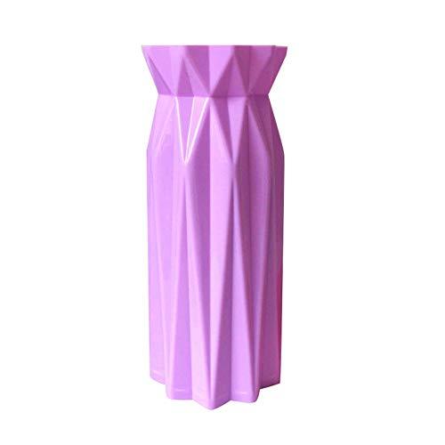 LPxdywlk Geometrische Origami Vase Blumenschmuck Topf Container Home Office Tisch Dekor Fotografie Requisiten Geschenk Helles Lila