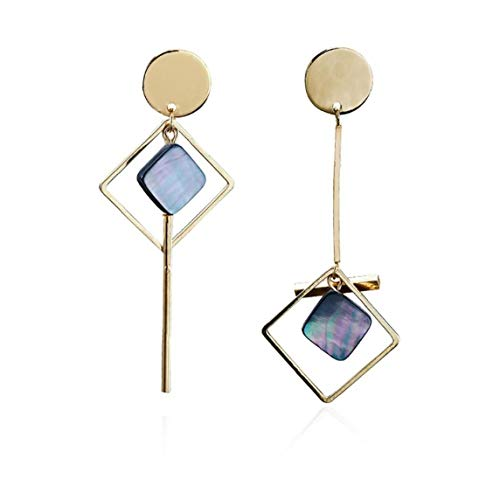 asdfwe 1 Pair Asymmetric Square Earrings Geometric Pendant Jewelry for Woman