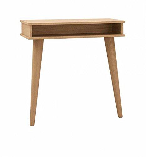 Console design moderne en bois massif, pieds à épingle tournés