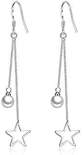 Best long silver chain earrings Reviews