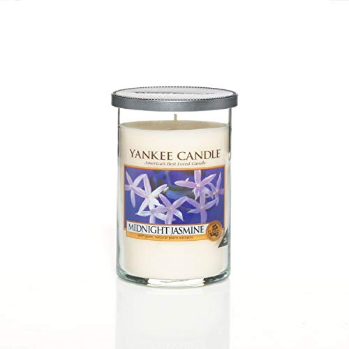 "Yankee Candle ""Midnight Jasmine"" Pillar Candle, Blanco, Medium"