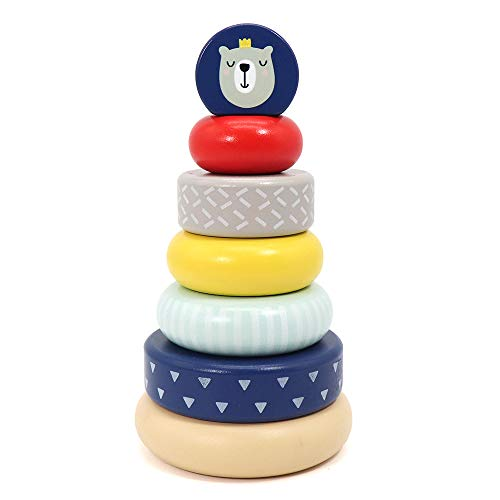 Product Image of the LEO & FRIENDS Wooden Stacking Toys,Australia Origin Baby Toys for One Year Old...