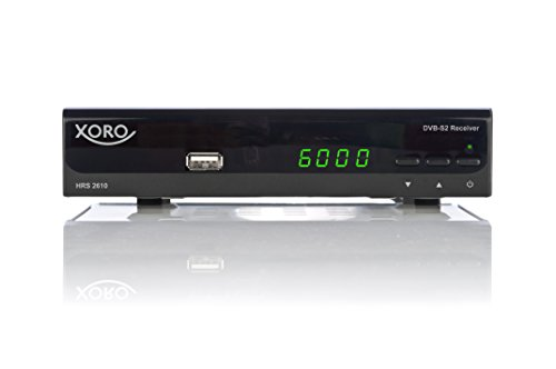 Xoro HRS 2610 Digitaler Satellitenreceiver (HDMI, SCART, USB 2.0, LAN, Unicable) schwarz