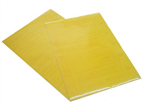 Transparentes A4-Kontakt papier Dc Fix Vinyl mit klebriger Rückseite - Gelb