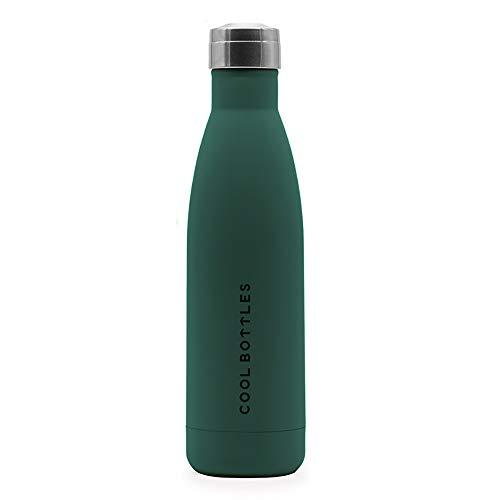 Botella de Agua de Acero Inoxidable   500 ml   Botella Térmica   Bebidas Frías Durante 24 Horas y Calientes hasta 12 Horas   Acero Inoxidable con Aislamiento de Doble Pared   Botella Libre de BPA