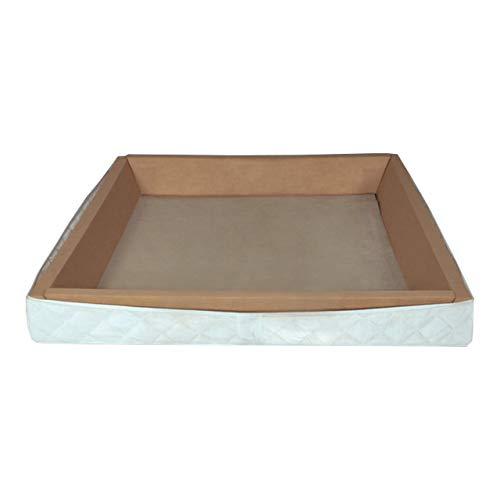 ABBCO Schaumstoffrahmen holzverstärkt für freistehendes Softside Wasserbett 220x180 cm