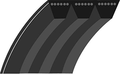 Greenstar V-riem, vlak, gelinieerd, voor maat 36/48 inch 5293 zwart.
