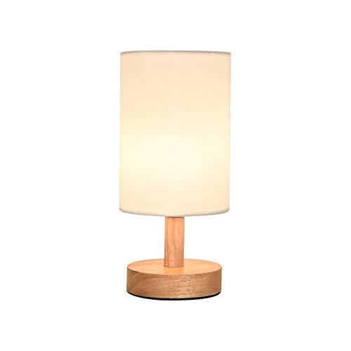 alyf lámpara de Escritorio Luz de Noche Dormitorio del bebé de Madera de protección for los Ojos lámpara de la mesilla de alimentación sólida lámpara de Mesa i Chica lámparas (Color : Natural)