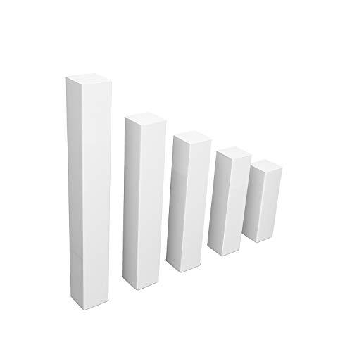 Universal Eckblock ECKTURM Eckstab für BUCHE Sockelleisten in WEISS (Eckturm ECONOMY (ohne Fase), 65 mm Höhe)