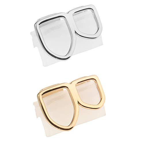 non-brand 2 Set Open Face Grills Tooth Top & Bottom Teeth Hip Hop Grills for Women Men Party Jewelry