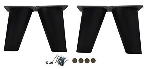patas para muebles madera haya. Patas cónicas con inclinación, y placa de montaje ya instaladas. 8 cm alto color natural (8 cm negro)