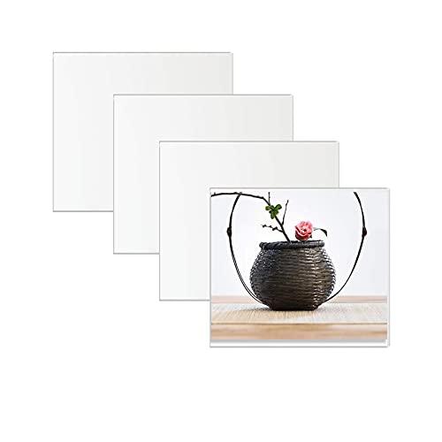 4 hojas de 30 x 30 cm, espejo acrílico para decoración de pared, espejos grandes extraíbles para pared de cuerpo completo, decoración de espejo para sala de estar, dormitorio, casa de campo