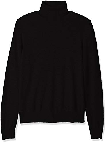 Amazon Brand - BUTTONED DOWN Men's 100% Premium Cashmere Turtleneck Sweater, Black, Large