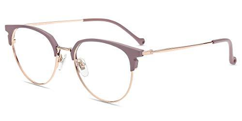 Firmoo Gafas Ordenador luz Azul Mujer Hombre, Gafas Gaming para Antifatiga Anti UV, Gafas protectoras Pantallas Electrónicas, S996 Dorado Púrpura