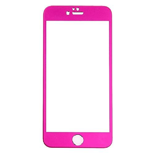 Todotumovil Protector de Pantalla Apple iPhone 6 Plus 5.5 Color Rosa Oscuro Completo 3D Cristal Templado Vidrio Curvo para movil
