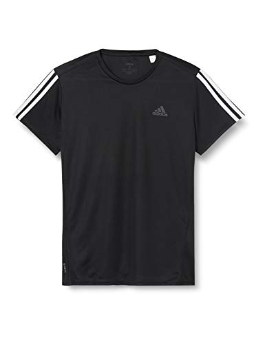 adidas Run IT tee 3S M Camiseta de Manga Corta, Hombre, Black/White, L
