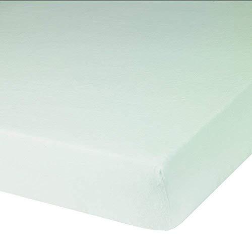 Blanc des Vosges Molleton 220gr/m² imperméable Alèze Housse, Coton, Blanc, 90x200 cm
