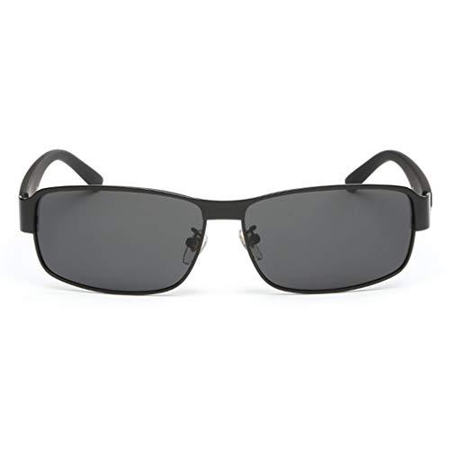 Klassieke Aluminium Heren Zonnebril Gepolariseerde Randloze Vierkante Coating Spiegel Zonnebril Heren Driving Eyewear Accessoireszwart