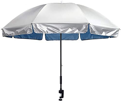 G4Free Universal Clamp On Umbrella Adjustable Outdoor UV Protection Beach Chair Umbrella 56inch product image
