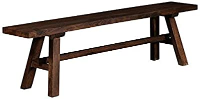 Amazon Com We Furniture Azbh1do Solid Wood Dining Bench