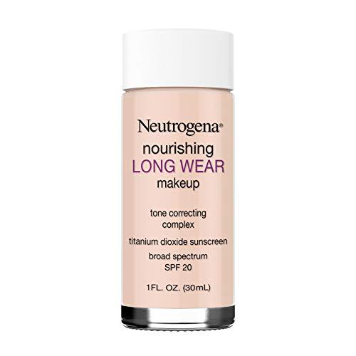 Neutrogena Nourishing Long Wear Liquid Makeup Foundation With Sunscreen, 20 Natural Ivory, 1 Fl. Oz.
