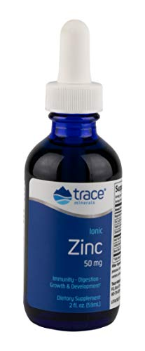 Trace Minerals Research Liquid Ionic, Zinc, 2 Ounce, Dietary Supplement, Magnesium, Immunity, Digestion, Growth and Development, Men and Woman