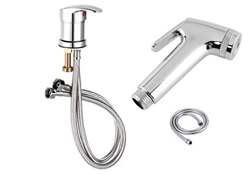 Warm/koud water mixer kraan douchekop sproeier slang 1/2 50cm voor kapsalon met gratis douche spray