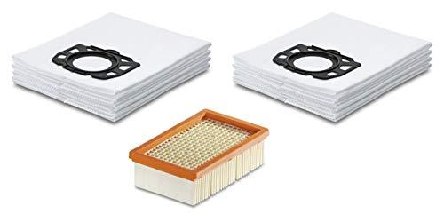 Filter-Set für Kärcher Nass-/Trockensauger mit original Kärcher Flachfaltenfilter (2.863-005.0) & Kärcher Vliesfilterbeutel (2.863-006.0) (1x Flachfaltenfilter & 2x Vliesfilterbeutel)