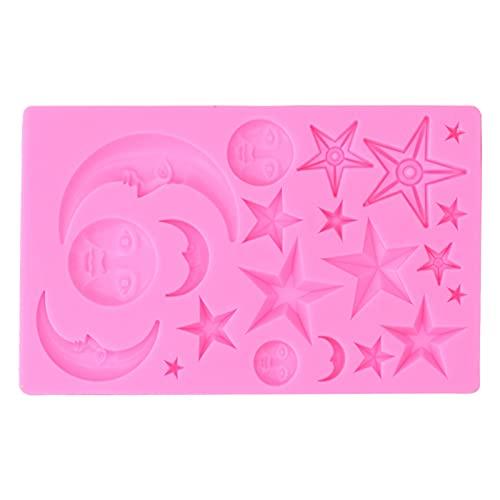 Pastel de Chocolate, Silicona Antiadherente para panadería para el hogar(Pink)