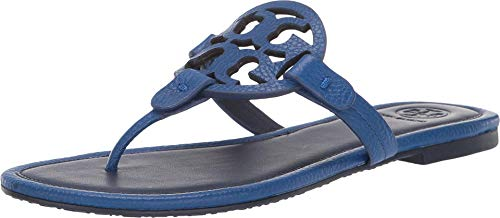 Tory Burch Women's Miller Thong Sandals Nautical Blue Royal Navy (8 M US)
