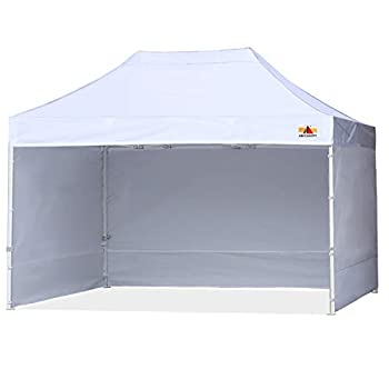 ABCCANOPY Ez Pop Up Canopy Tent with Sidewalls 10x15 Commercial -Series,White