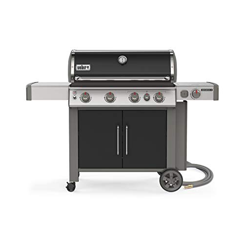 Weber 67016001 Genesis II E-435 4-Burner Natural Gas Grill, Black
