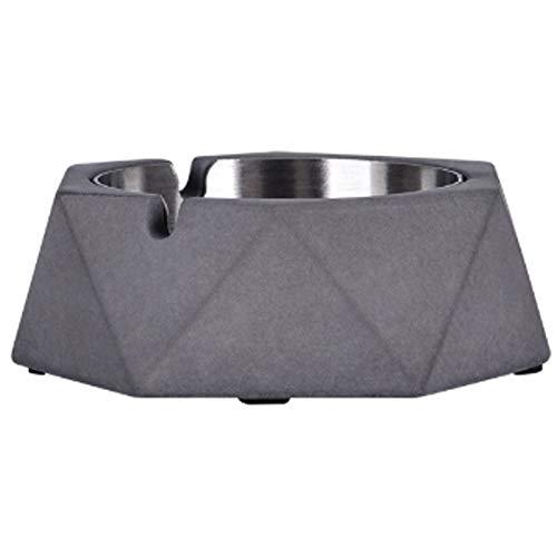 Cenicero creativo de cemento cenicero de acero inoxidable para escritorio, cenicero de metal para decoración del hogar