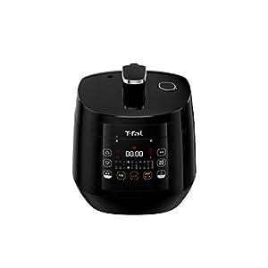 ティファール 電気圧力鍋 圧力鍋 ラクラ・クッカー コンパクト ブラック 圧力 蒸す 煮る 炒める 低温 炊飯 保温 再加熱 時短レシピ ほったらかし 調理 CY3508JP