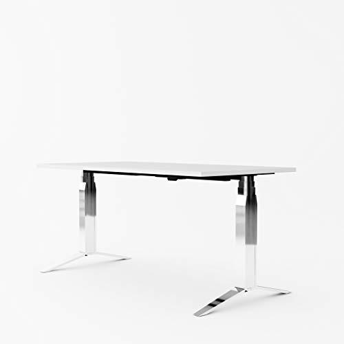 Inwerk Steh-Sitz Schreibtisch Masterlift 5 (Chrom, 2200x800)
